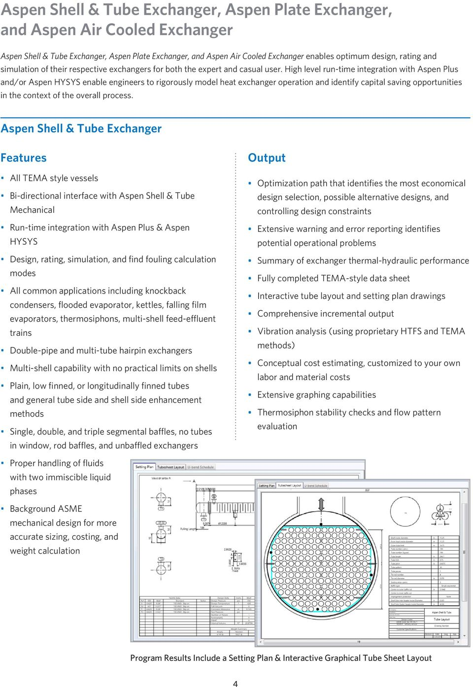Aspen Exchanger Design Rating Family Pdf Piping Layout Heat High Level Run Time Integration With Plus And Or Hysys Enable Engineers