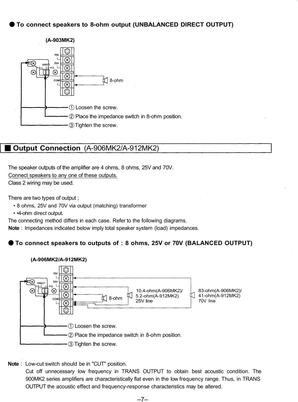 TOA 900 SERIES II MIXER POWER AMPLIFIER - PDF Free Download  Ohm Sub Wiring Diagram Output Amp on 4 ohm subs wiring parallel or series, 4 ohm dual voice coil wiring, dual 4 ohm wiring-diagram, 4 ohm to 2 ohm diagram, 4 ohm subwoofers, 4 ohm to 4 ohm, 2 ohm wiring-diagram, 4 ohm sub to 2 ohm amp, 4 ohm to 1 ohm, car sub wiring-diagram, 4 ohm dvc wiring options, 4 ohm speaker wiring, 4 ohm single voice coil wiring, 4 ohm dvc to 2 ohm, 1 ohm wiring-diagram,
