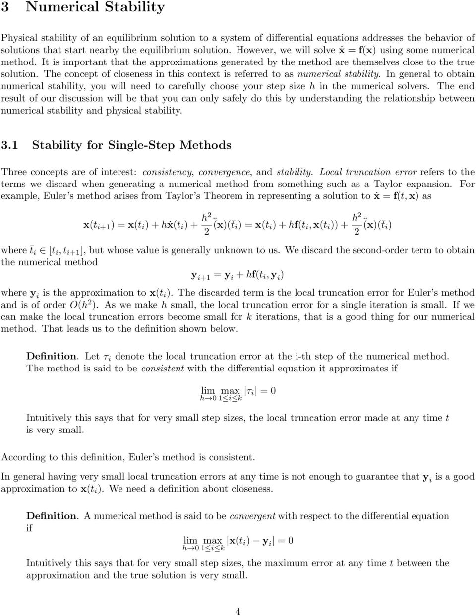 stability analysis for systems of differential equations - pdf