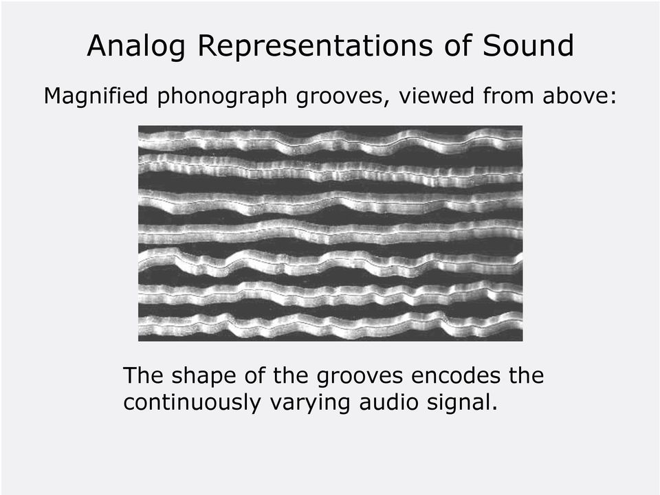 from above: The shape of the grooves