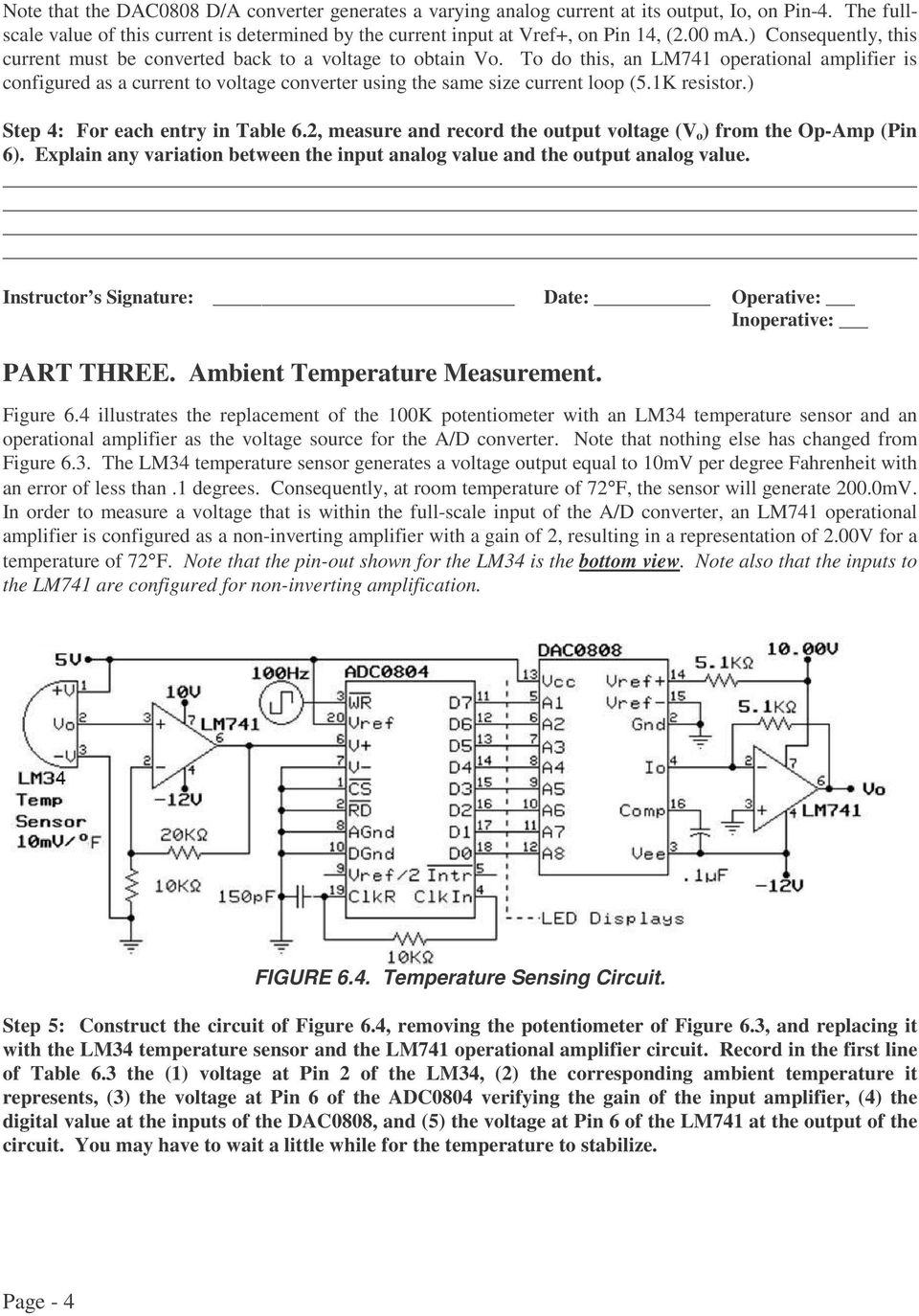 Conversion Between Analog And Digital Signals Pdf Temperature To Voltage Converter Circuit Do This An Lm741 Operational Amplifier Is Configured As A Current