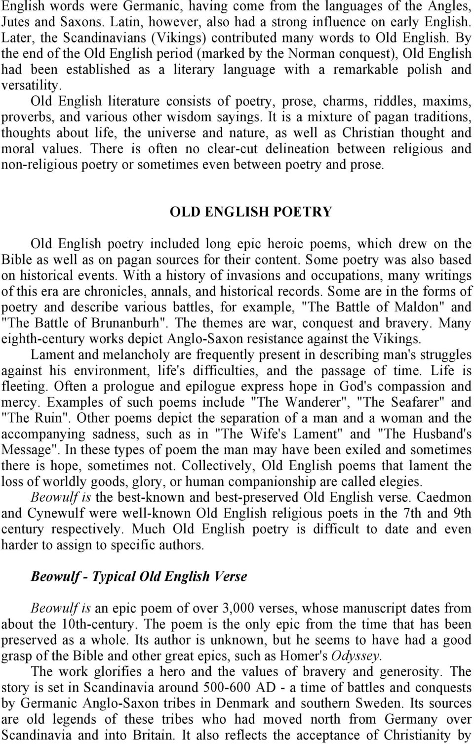 Old English Literature Pdf Free Download