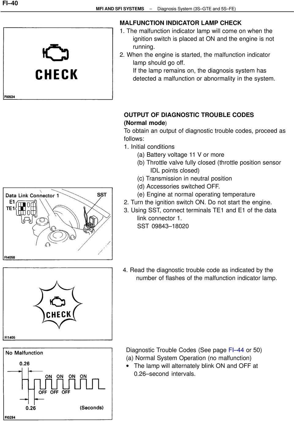 Toyota Sienna Service Manual: Diagnostic trouble code chart