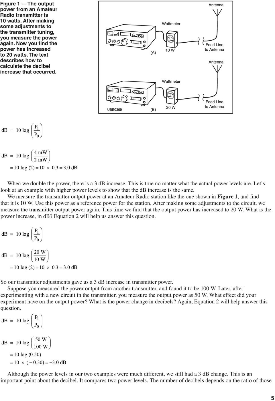 A Tutorial On The Decibel Pdf And Antenna Transmitter Two Points Are In One Line 0 When We Double Power There Is 3 Increase This True