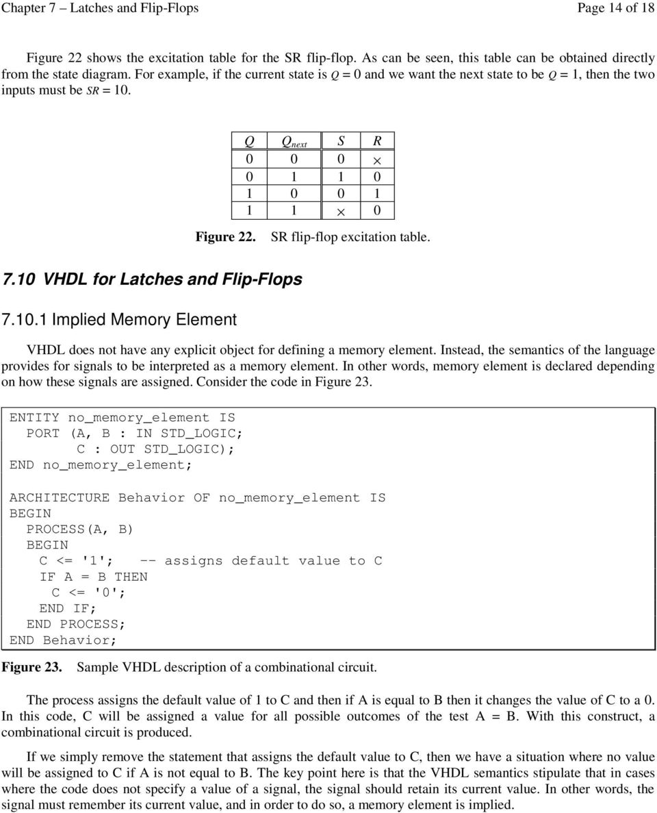 7 Latches And Flip Flops Pdf In Describing The Output States Of Any Multivibrator Circuit 10 Vhl For 7101 Implied Memory Lement Does