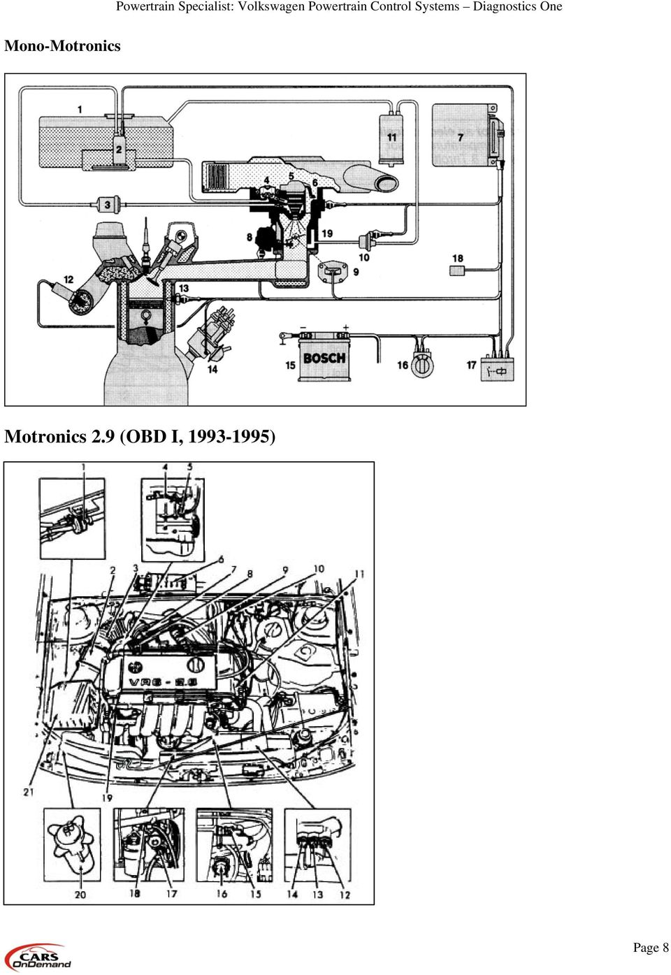 Volkswagen Powertrain Control Systems Diagnostics One Pdf 2000 Vw Eurovan Fuse Box Diagram 11 Sensors Engine Coolant Temperature Sensor Mounted In The Block Water Jacket Reports To Ecu A Form Of Resistance