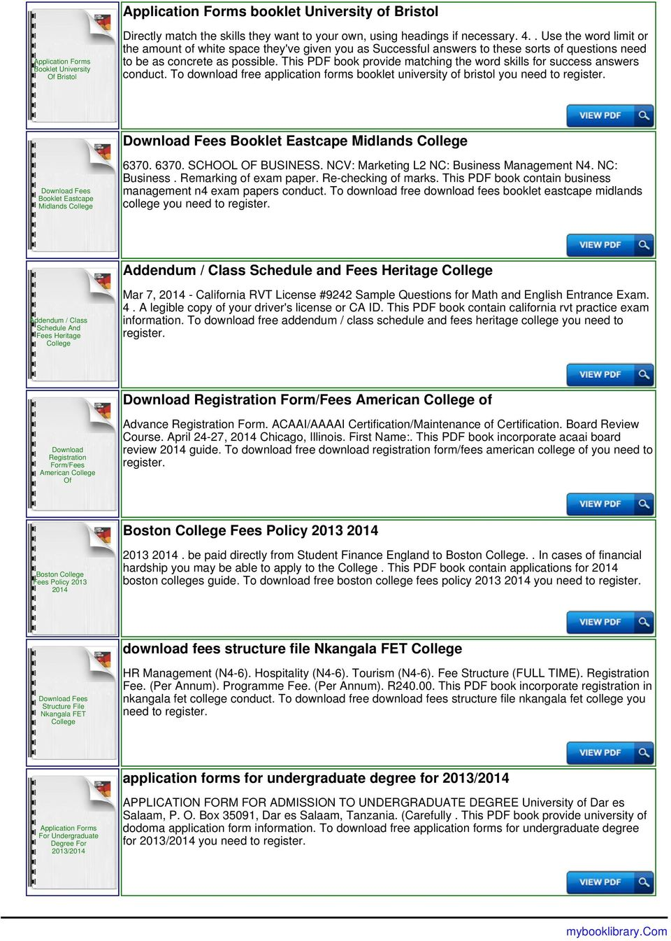 evelyn hone college application forms and fees pdf