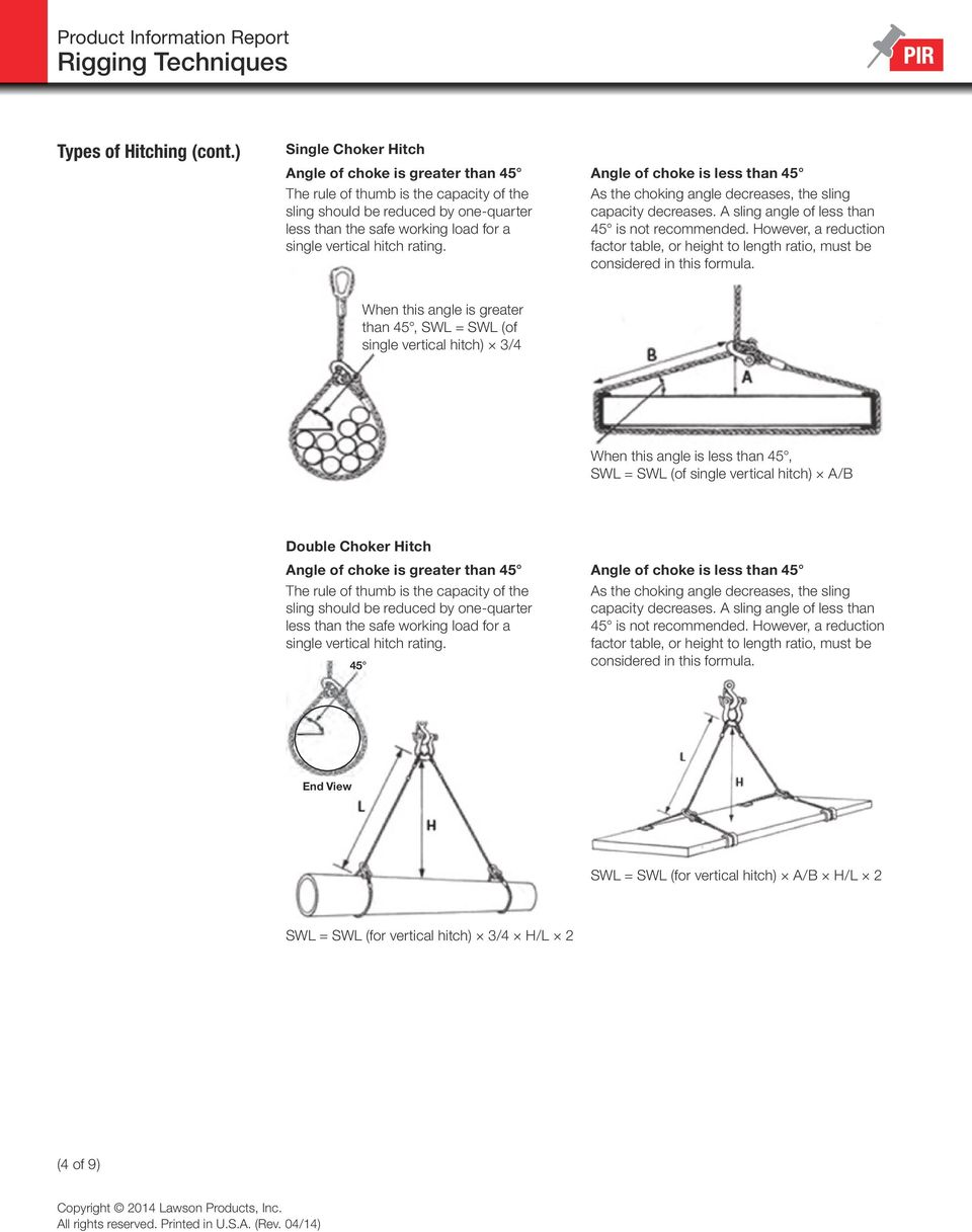 Product Information Report Rigging Techniques - PDF