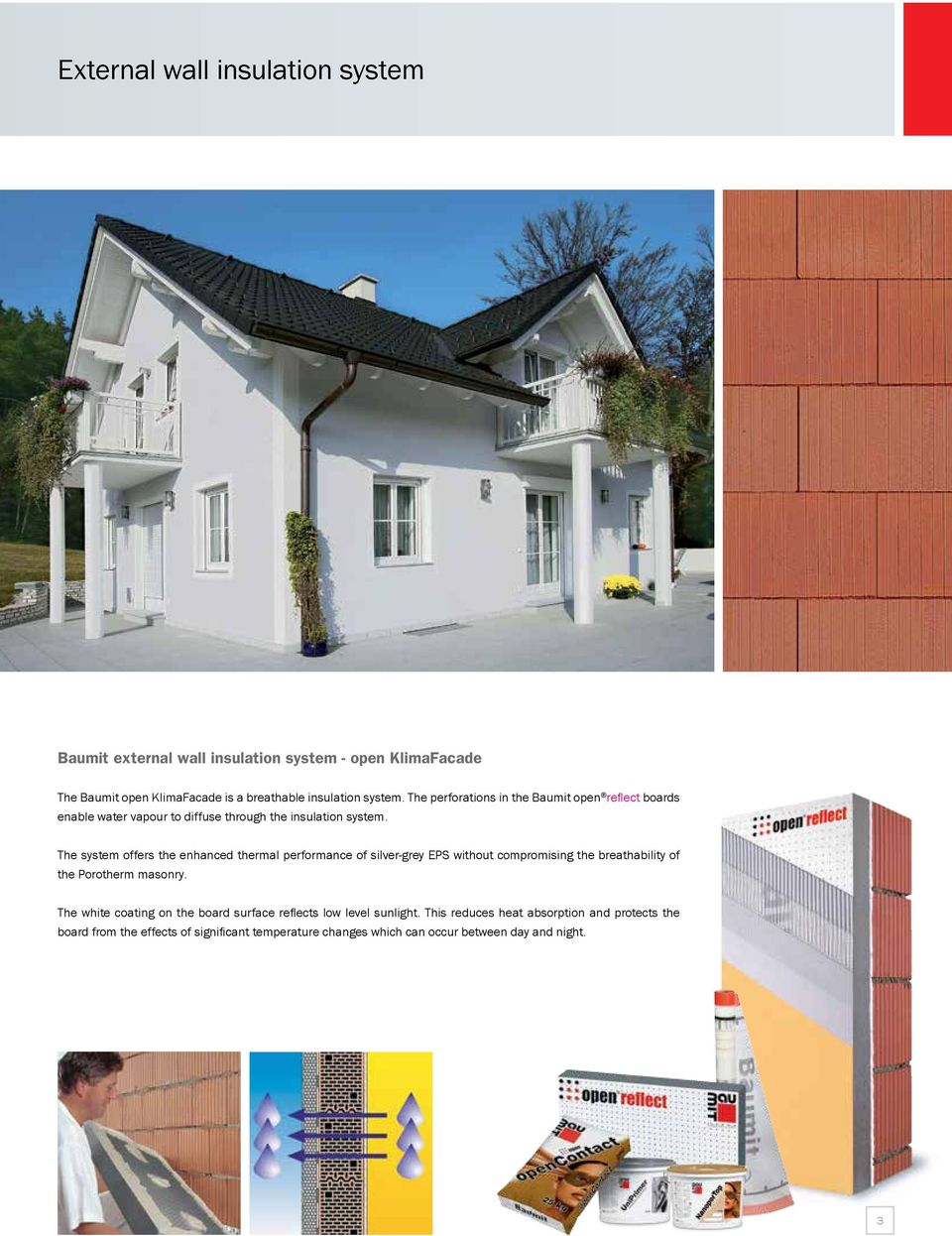 Baumit Renders for Porotherm Masonry  Application Guidelines  n