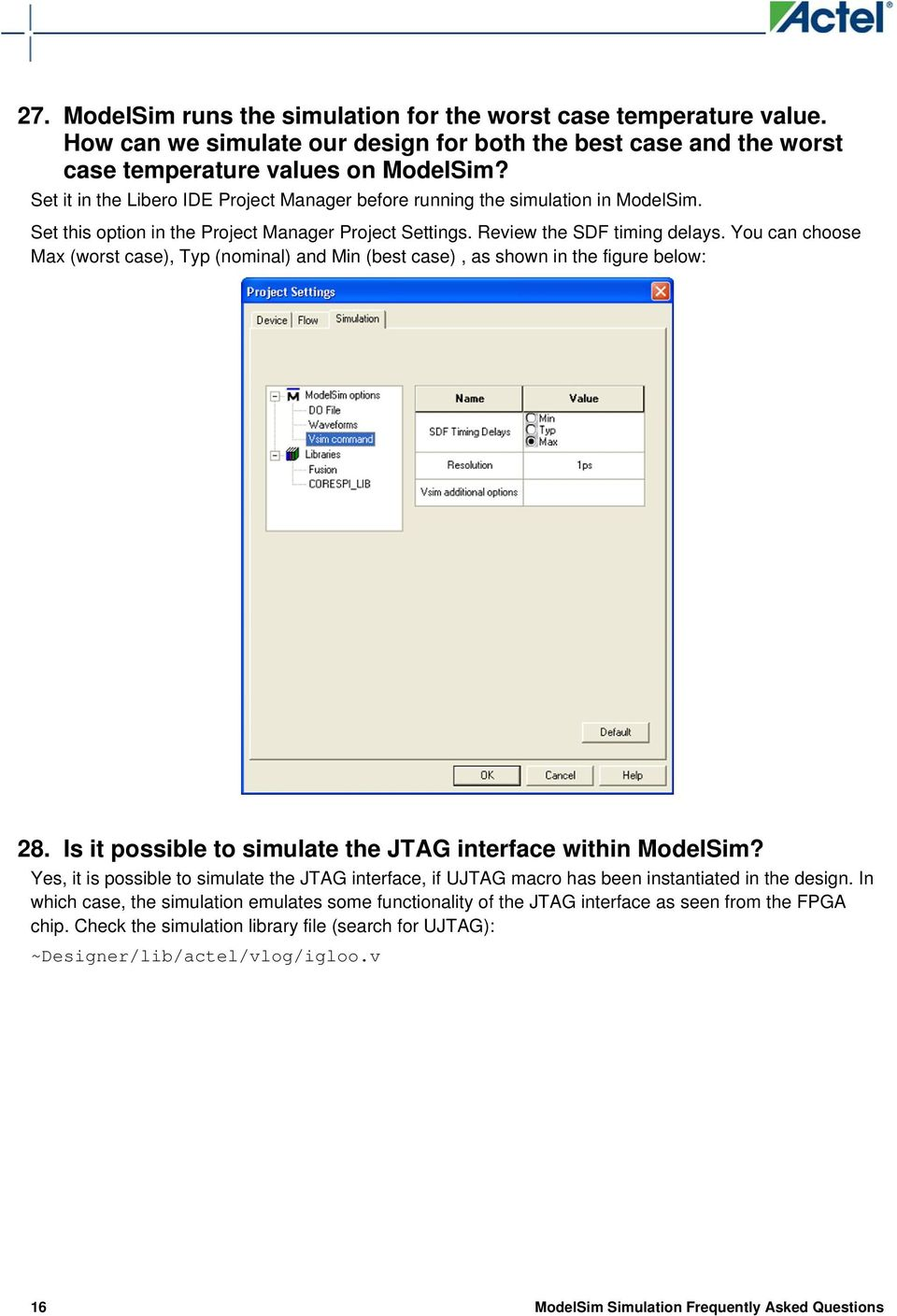 ModelSim Simulation Frequently Asked Questions - PDF