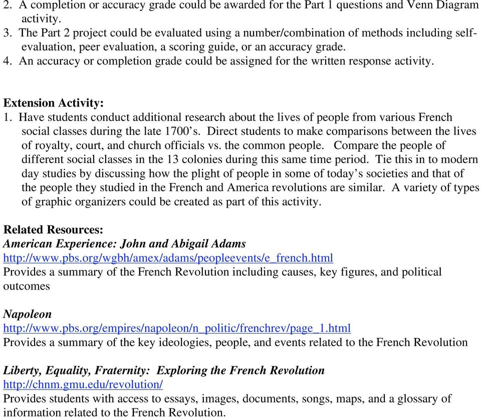 Plan  The Politics Of Revolution Subject Areas World History  An Accuracy Or Completion Grade Could Be Assigned For The Written Response  Activity Extension Activity Help Writing Business Plan also Response Essay Thesis  English Essays For Students