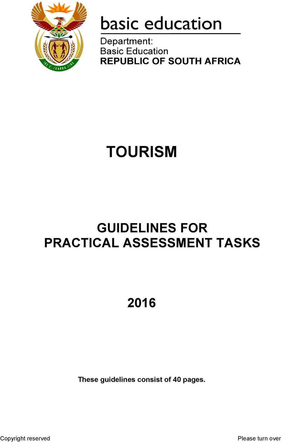 tourism guidelines for practical assessment tasks pdf rh docplayer net Rules Procedures and Middle School Edit Name Tags School