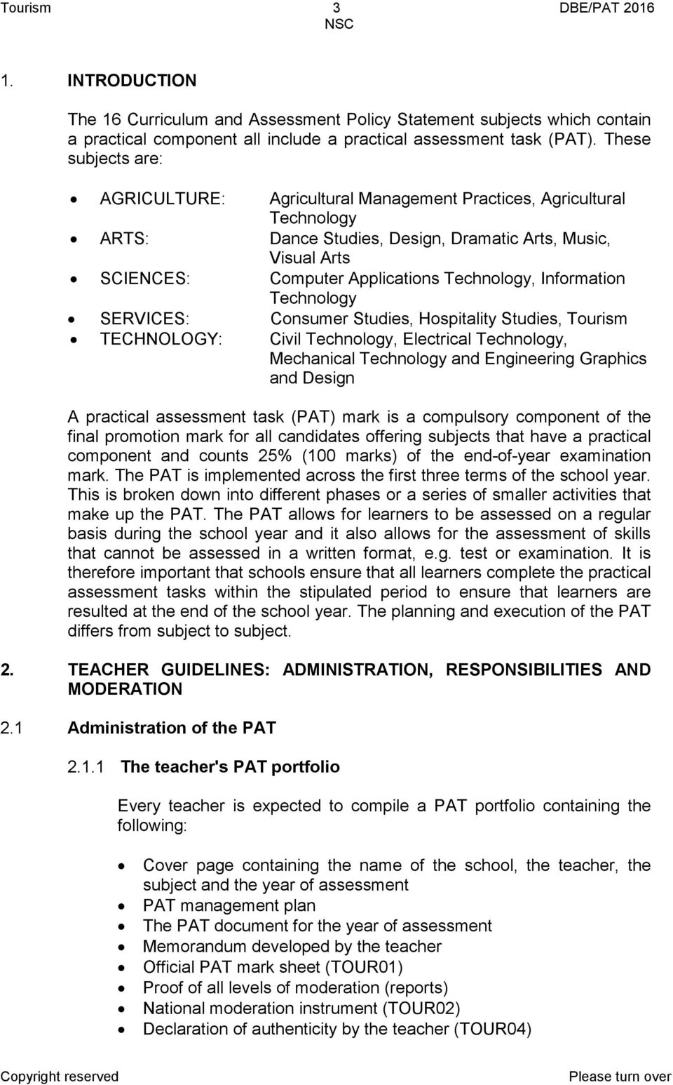 tourism guidelines for practical assessment tasks pdf rh docplayer net 2nd Grade Following the Rules at School Animated Edit Name Tags School
