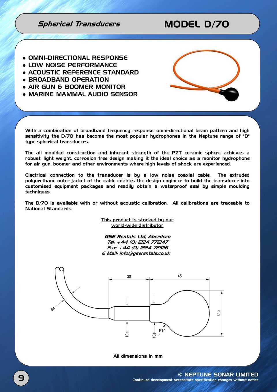Transducer Product Catalogue Pdf 25 Khz Ultrasound Electronics And Electrical Engineering The All Moulded Construction Inherent Strength Of Pzt Ceramic Sphere Achieves A Robust