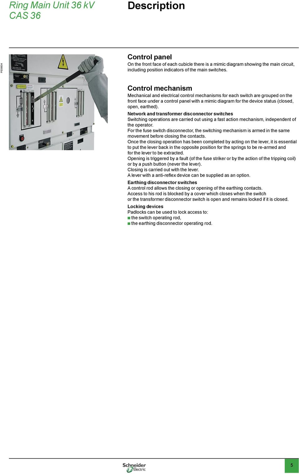 Cas 36 ring main unit pdf network and transformer disconnector switches switching operations are carried out using a fast action mechanism ccuart Images