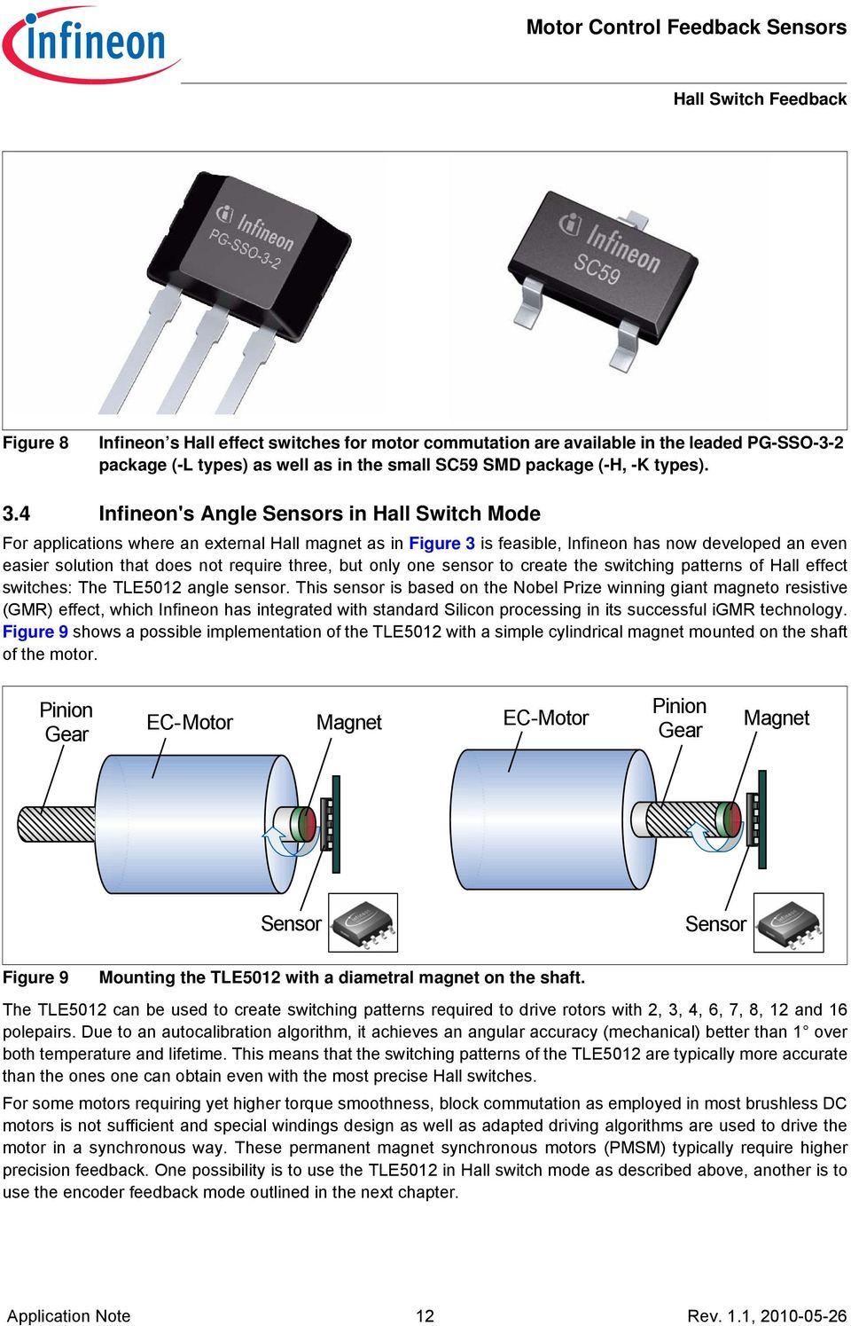 Position Feedback For Motor Control Using Magnetic Sensors Pdf Halleffectswitches Three But Only One Sensor To Create The Switching Patterns Of Hall Effect Switches