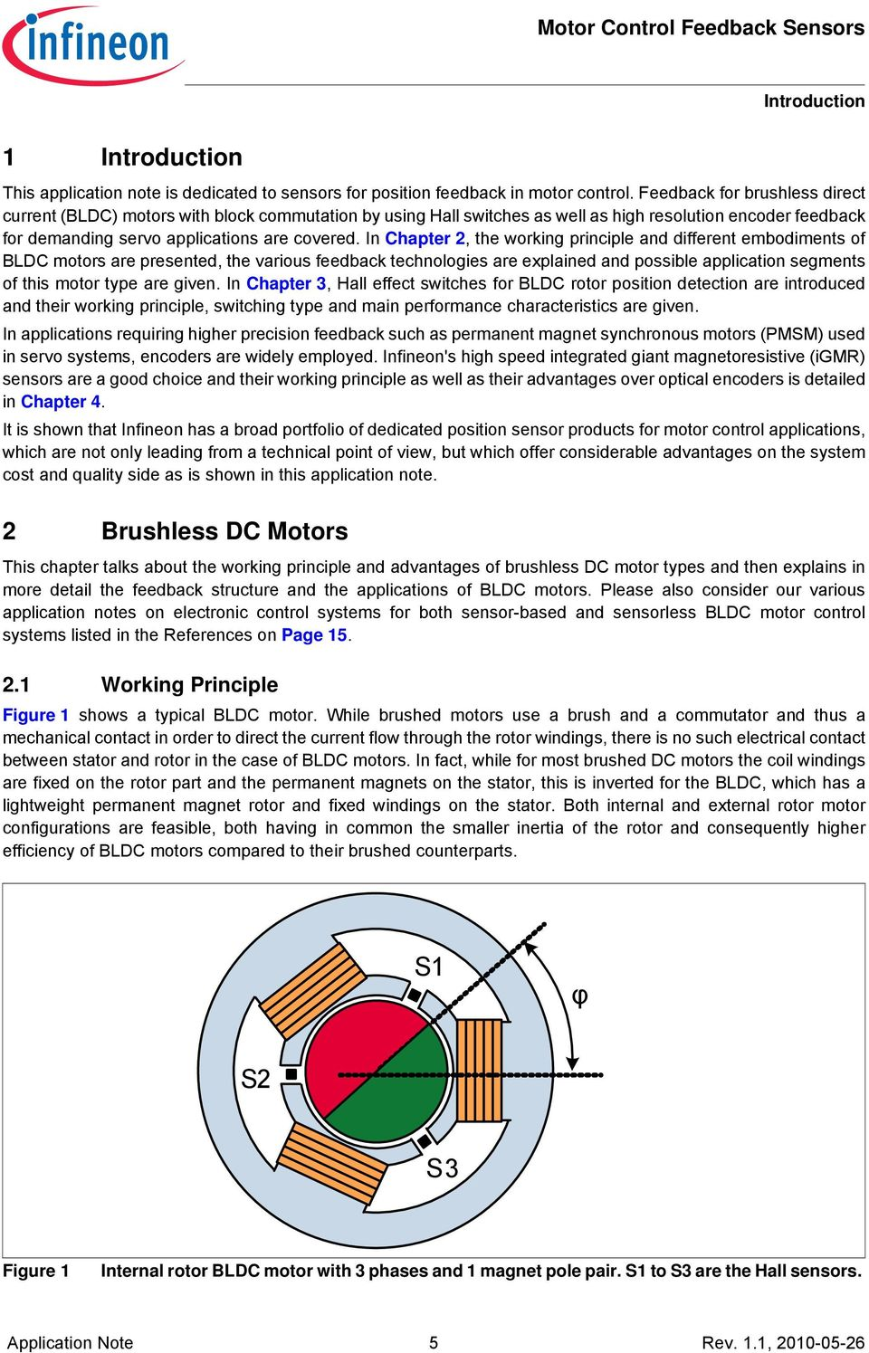 In Chapter 2, the working principle and different embodiments of BLDC motors are presented,