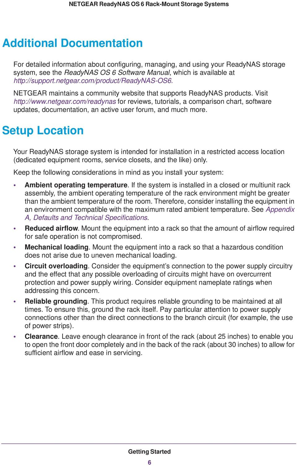 NETGEAR ReadyNAS OS 6 Rack-Mount Storage Systems - PDF