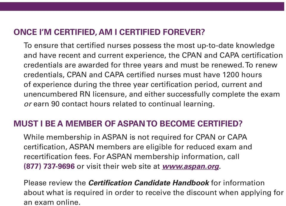 CPAN and CAPA Certification Programs for Perianesthesia Nurses Q+A ...