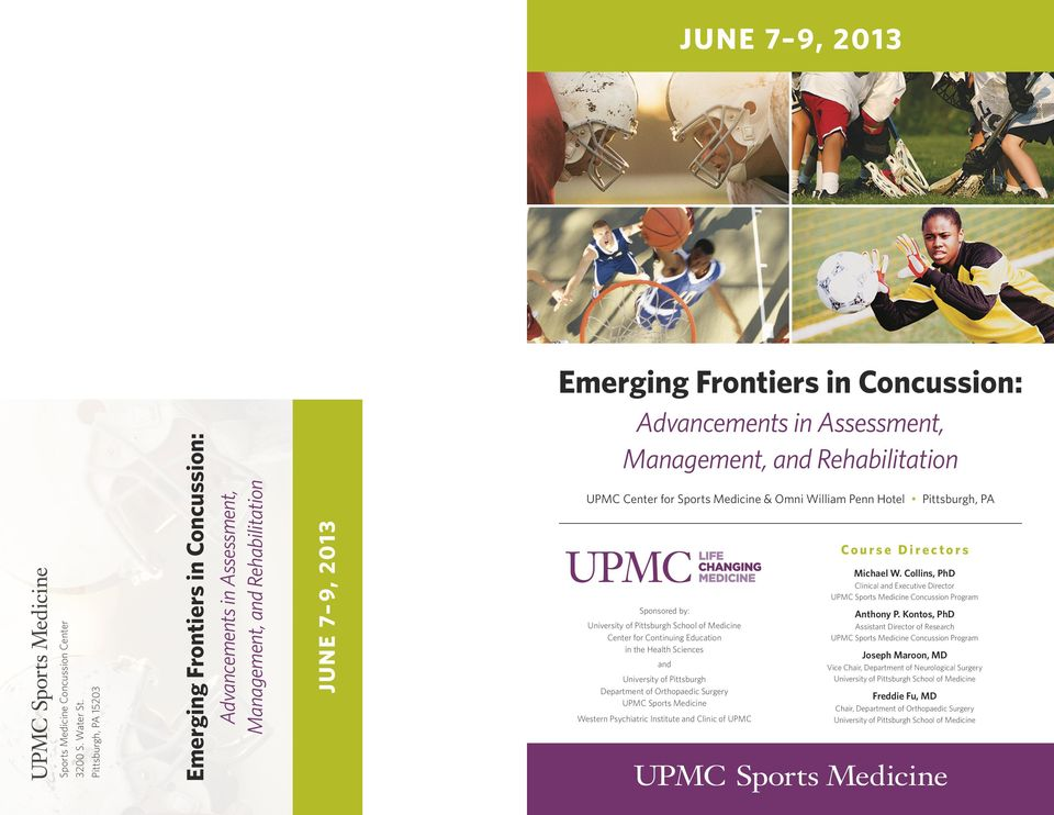 Emerging Frontiers in Concussion: - PDF