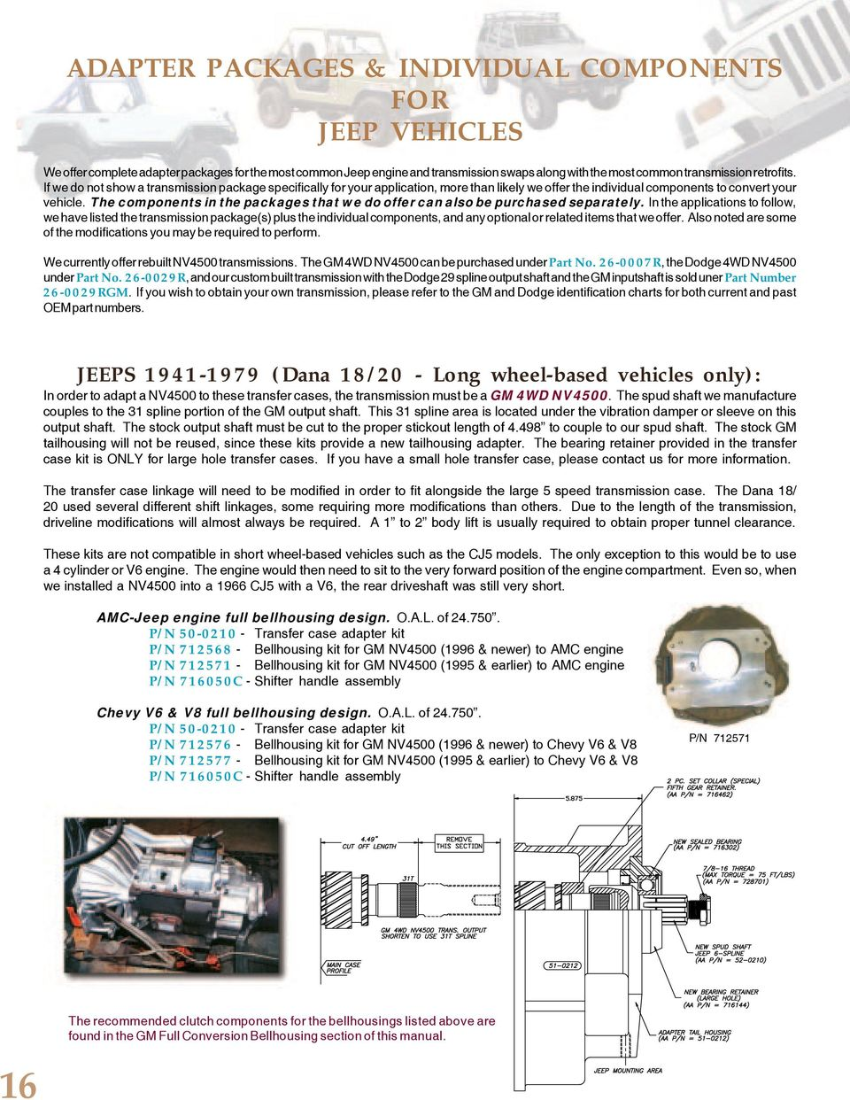 NV4500 NV3550 AX15 TRANSMISSION and ADAPTER INFORMATION - PDF