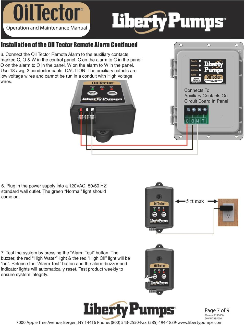 Introduction Safety Guidelines Part Numbers Operation And Five Battery Low Voltage Alarm Indicator Circuits Caution The Auxiliary Cotacts Are Wires Cannot Be Run In A Conduit