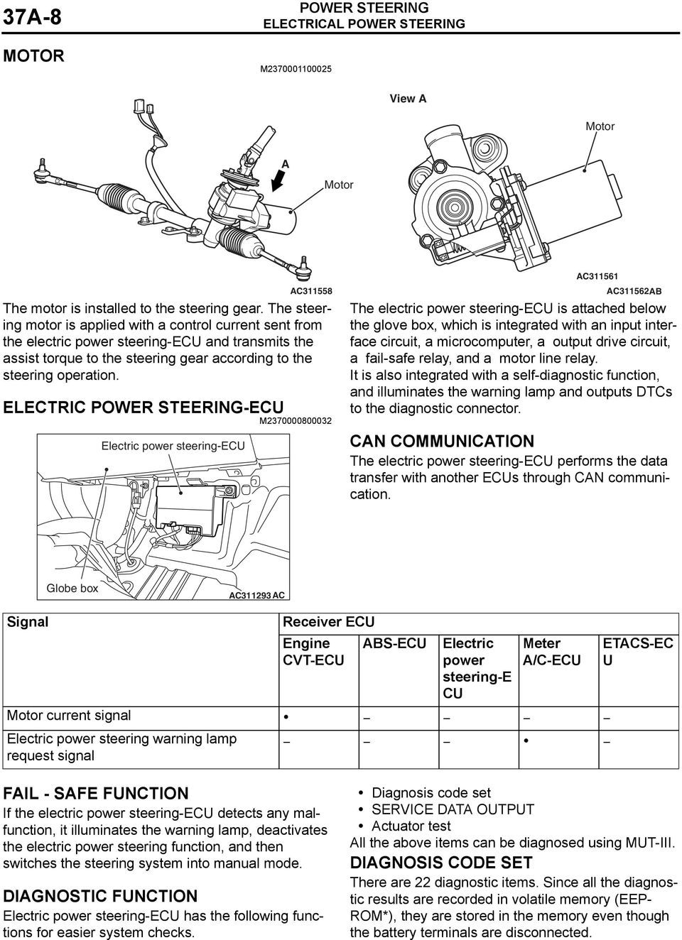 Power Steering Group 37a 37a1 Contents General Information 37a2. Electric Ecu M2370000800032 Power Steeringecu Ac311562ab The. Wiring. Fail Safe Relay Wiring Diagram At Scoala.co