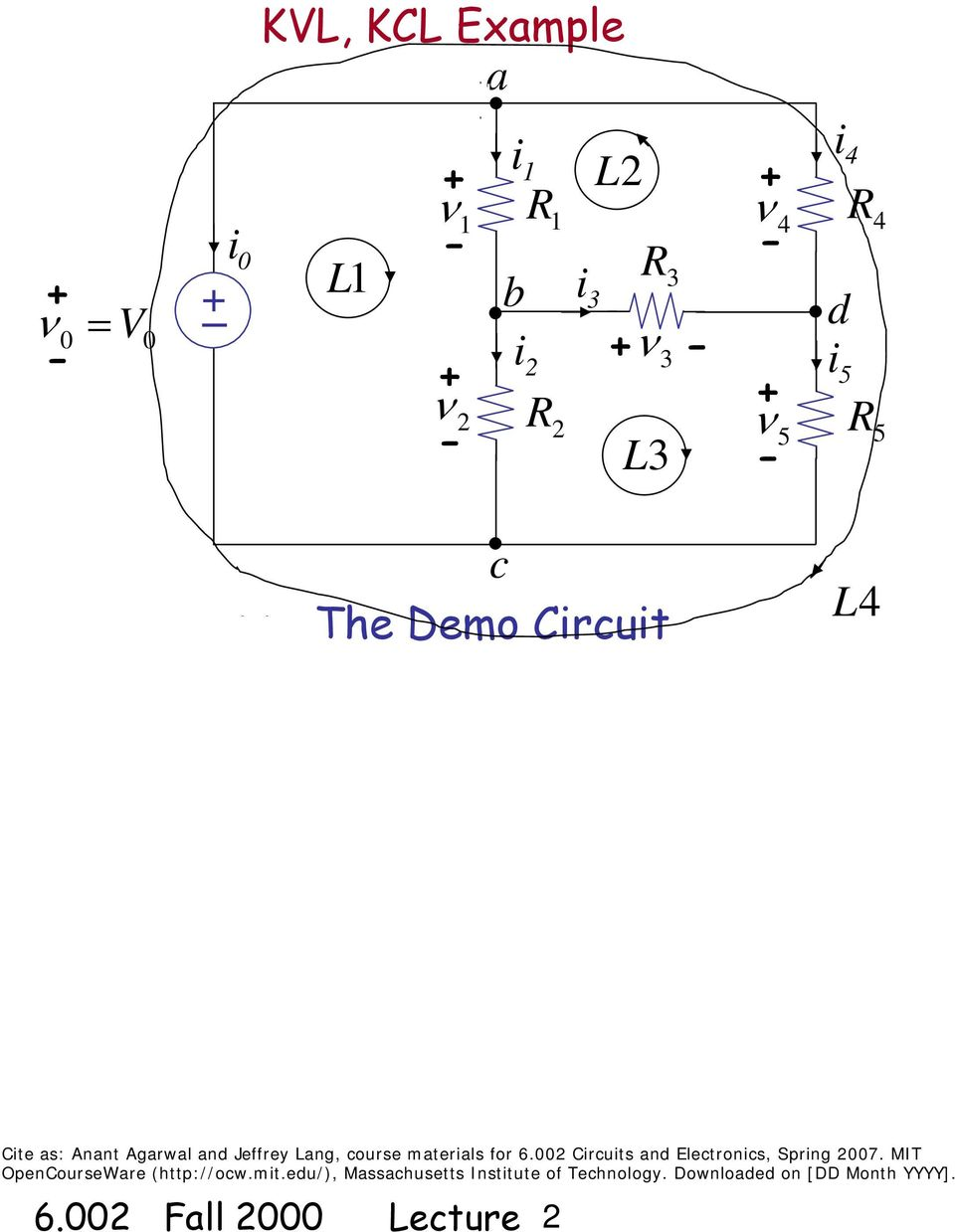 Circuits And Electronics Basic Circuit Analysis Method Kvl Kcl Electrical Solving Technique Loop Mesh Current Agarwal Jffry Lang Cours Matrials For 6