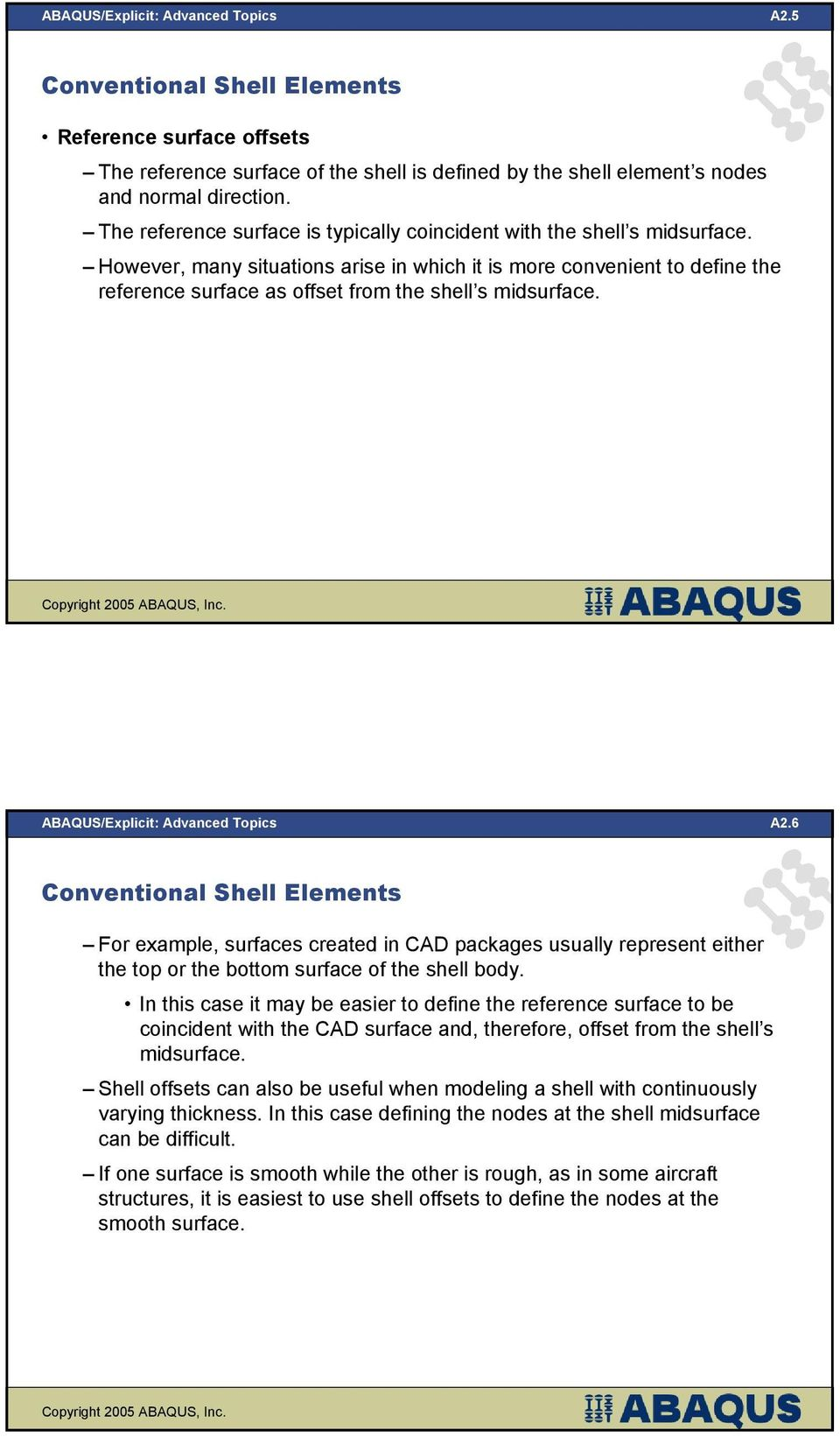 Shell Elements in ABAQUS/Explicit - PDF