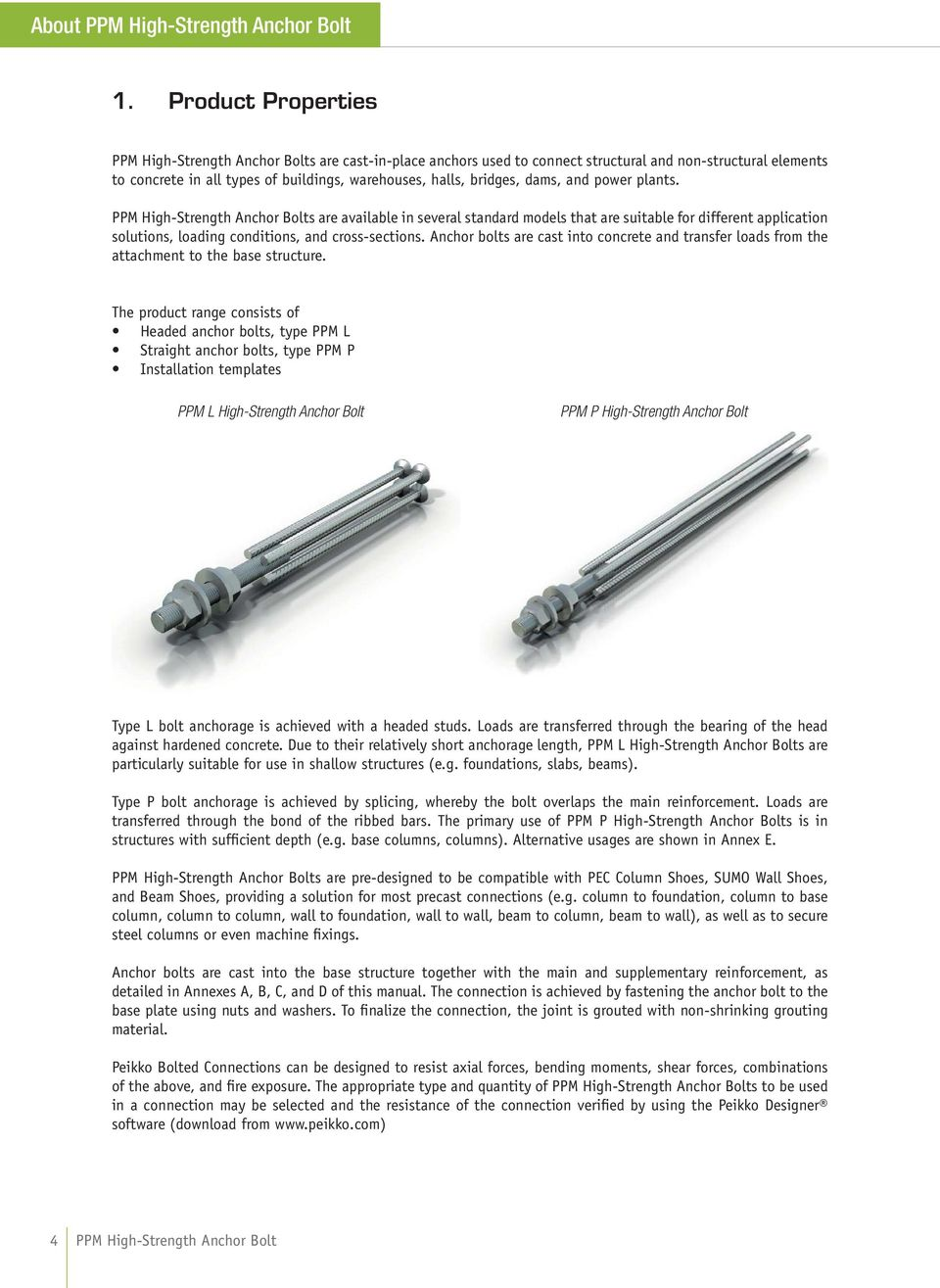 PPM High-Strength Anchor Bolt - PDF