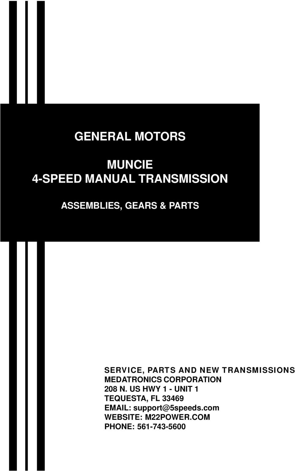 GENERAL MOTORS MUNCIE 4-SPEED MANUAL TRANSMISSION - PDF
