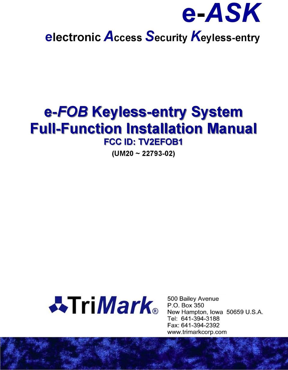 e-ask electronic Access Security Keyless-entry - PDF
