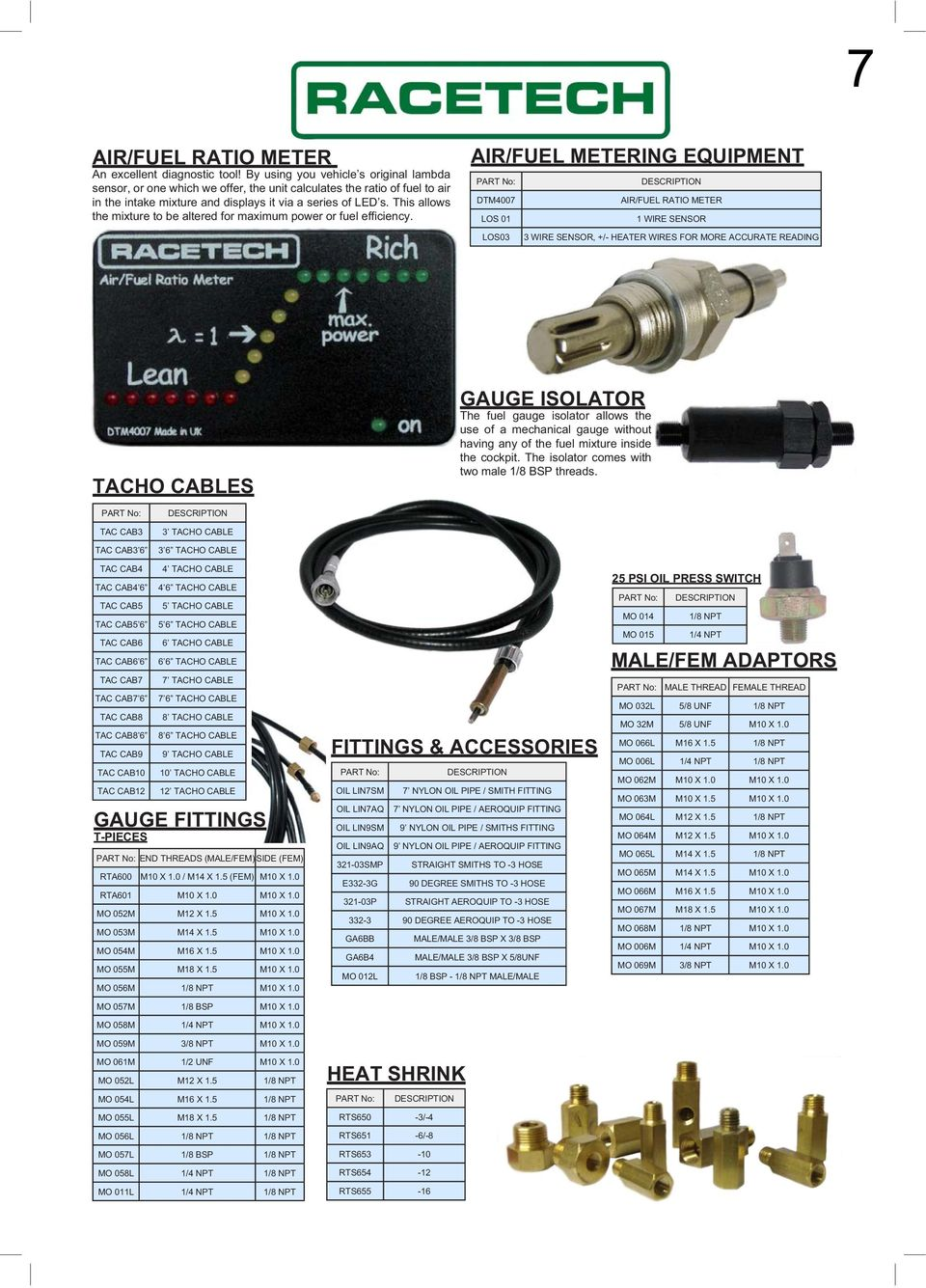 Motorsports Katalog E Tech Racing Tlf Pdf Accessories And Parts Wiring Wire Jacketed 12 Gauge 2 Deka This Allows The Mixture To Be Altered For Maximum Power Or Fuel Efficiency