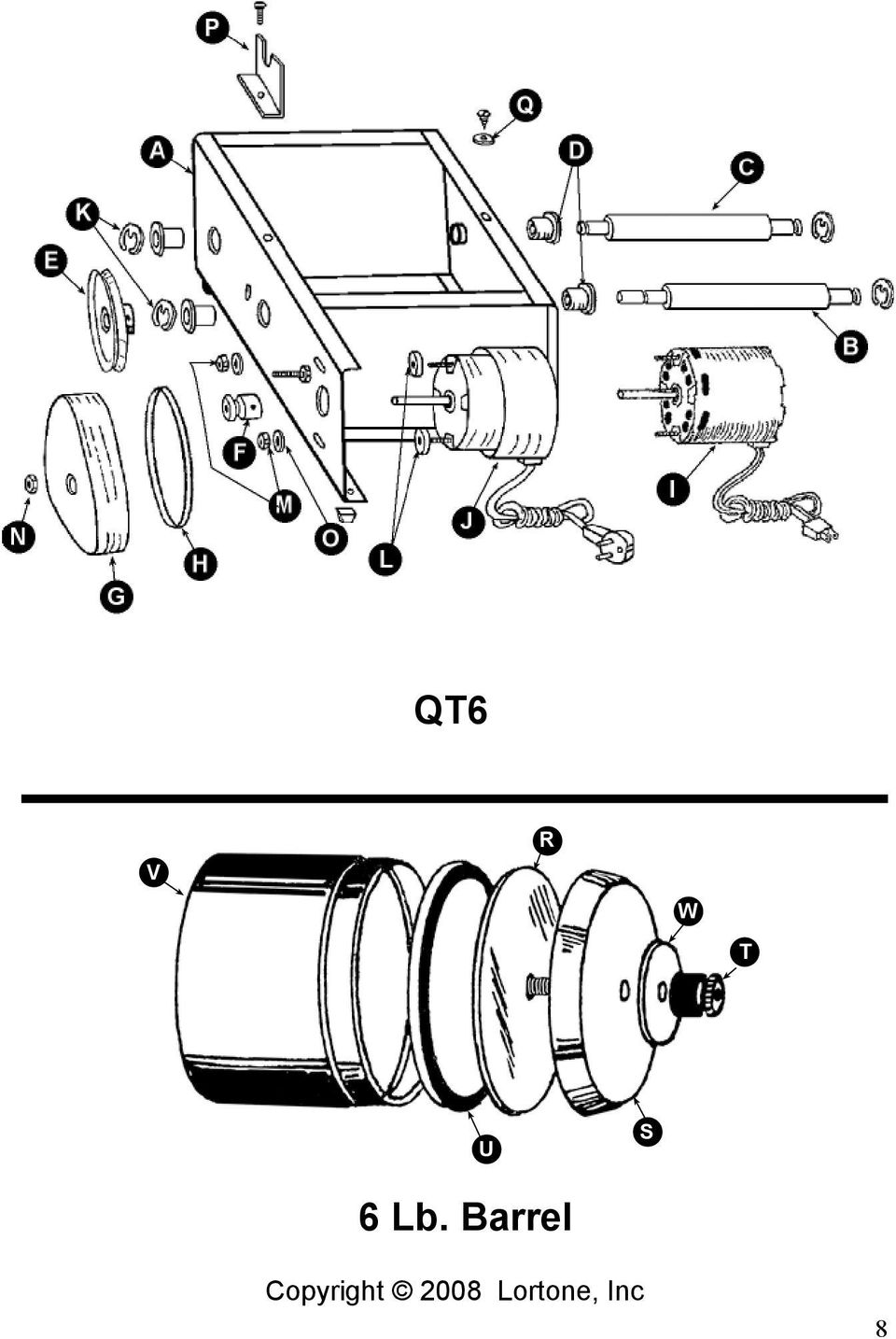 ROTARY TUMBLER INSTRUCTIONS AND PARTS LIST - PDF