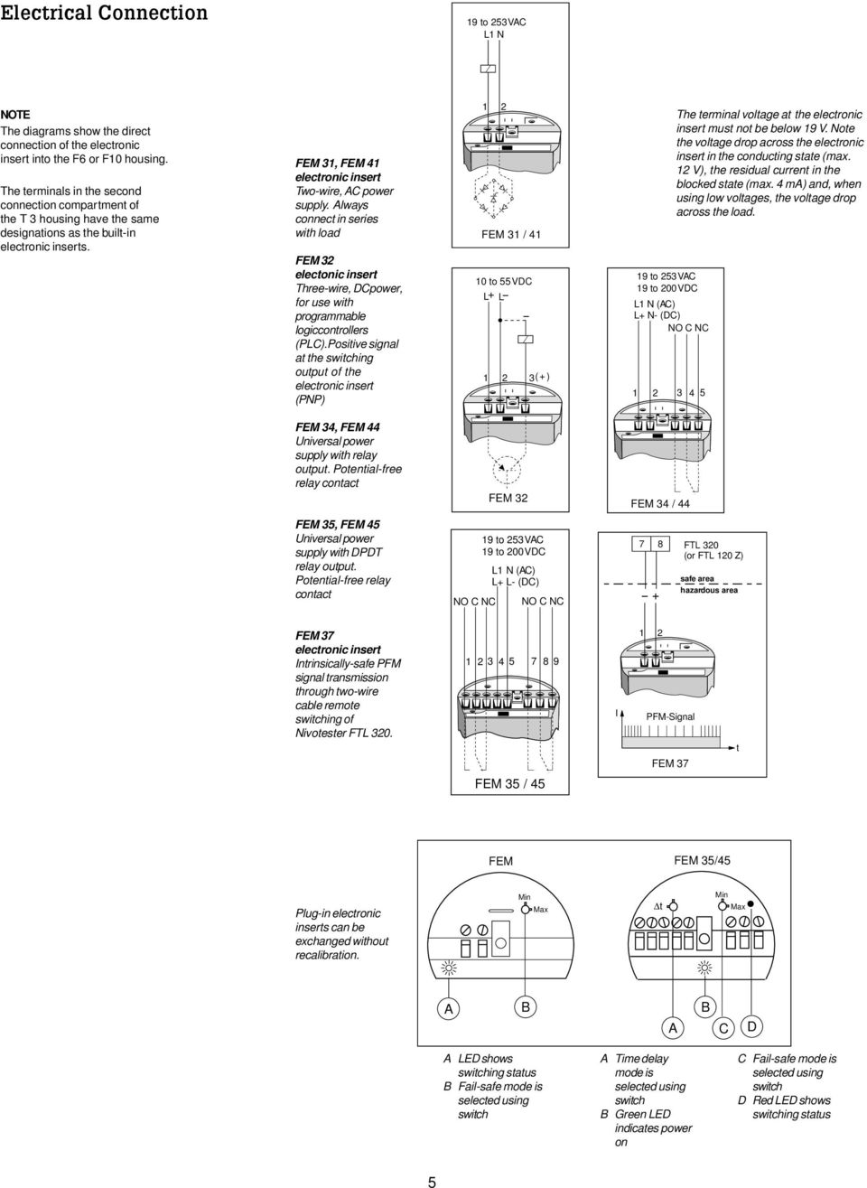 Level Switch Soliphant Ii Ftm 30 31 32 Pdf Photoelectric Pnp Wiring Diagram Always Connect In Series With Load Fem 2 Electonic Insert Three Wire Dcpower