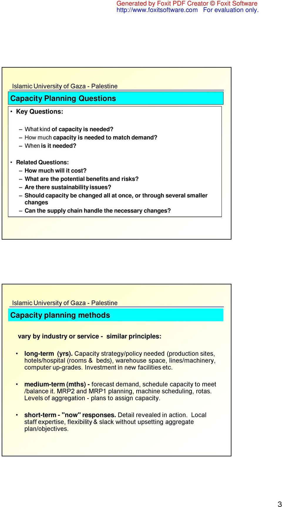 Chapter 5: Strategic Capacity Planning for Products and Services - PDF