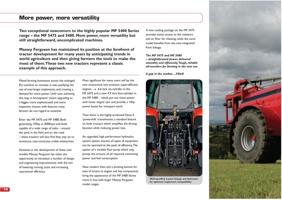 MF More power, more choice, higher productivity  NEW mid-horsepower