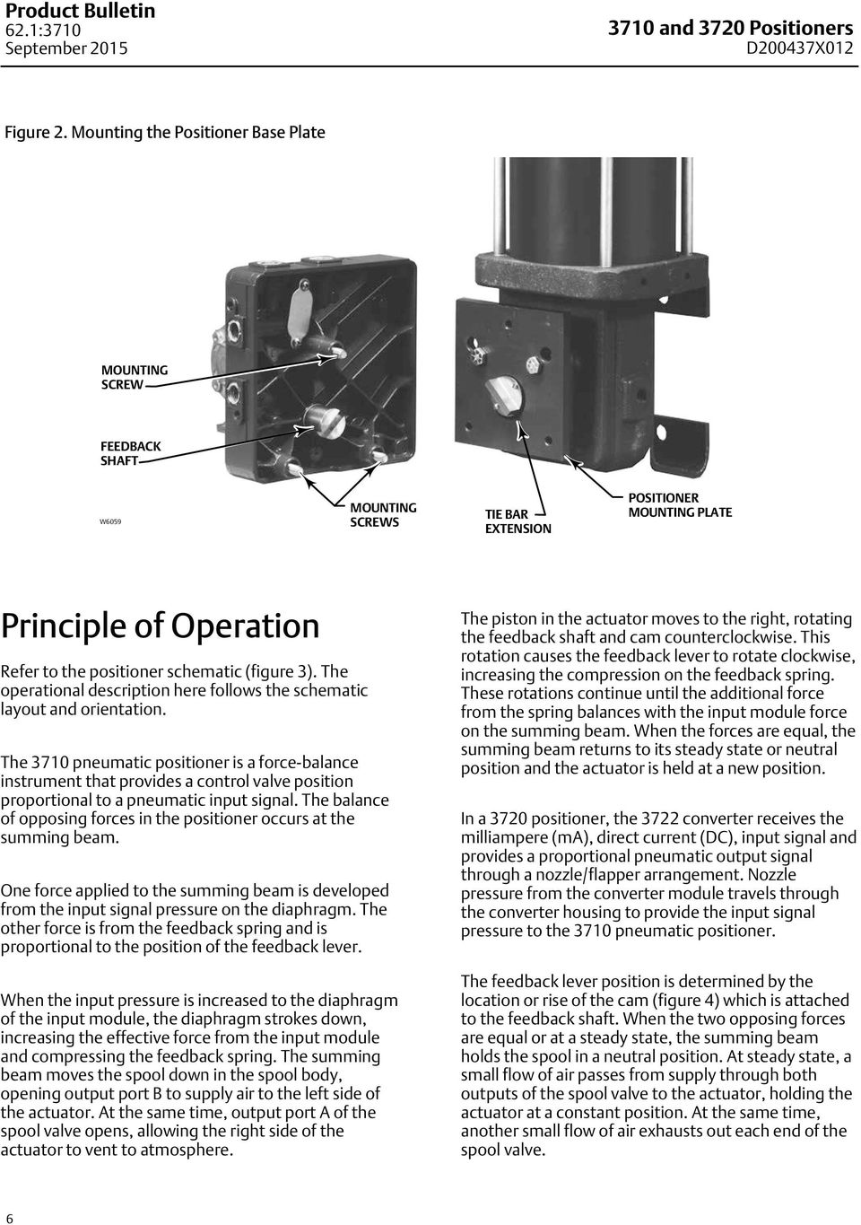 Fisher 3710 And 3720 Positioners 3722 Electro Pneumatic Auto Rod Controls Wiring Diagram The Operational Description Here Follows Schematic Layout Orientation