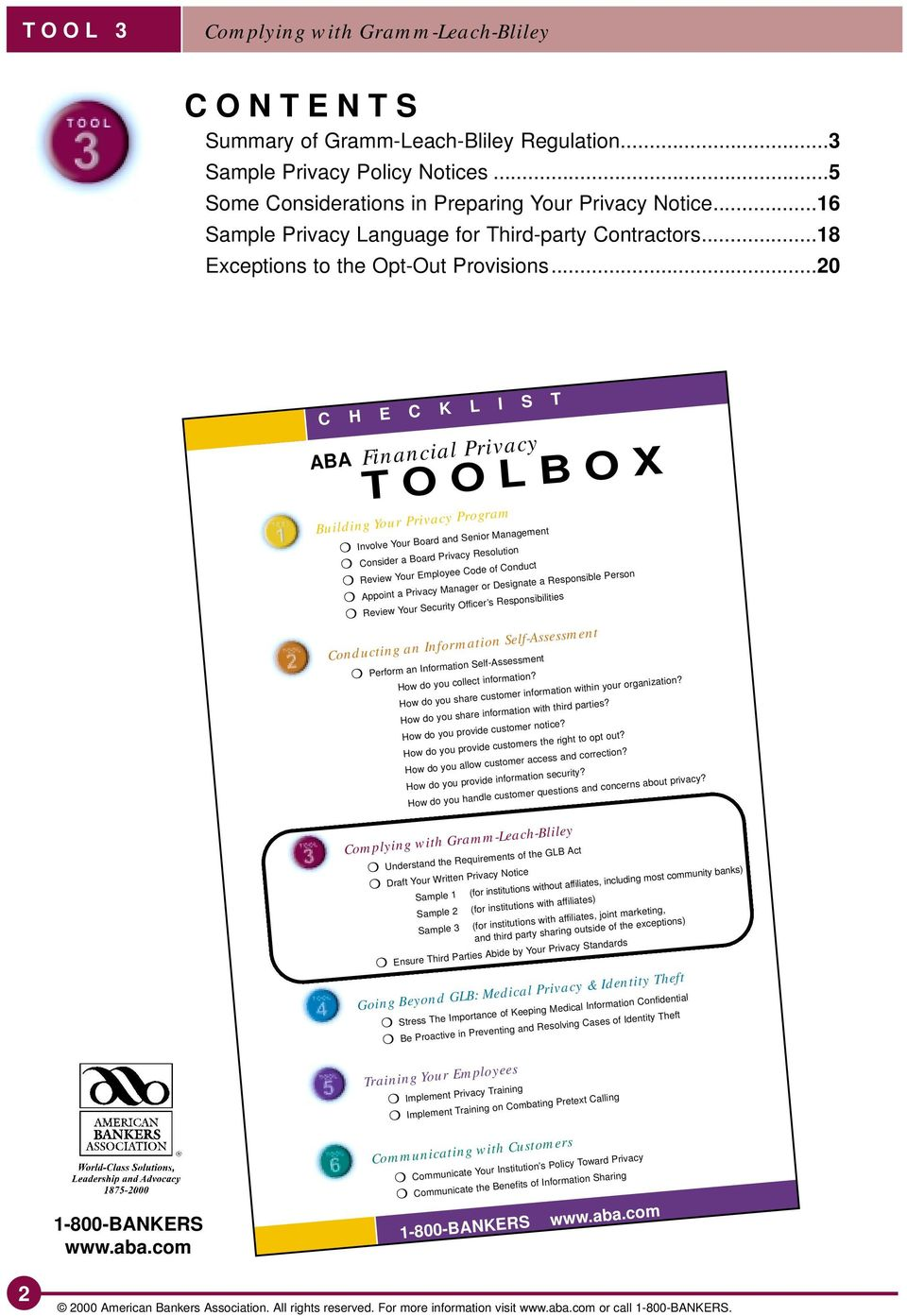 TOOLBOX  ABA Financial Privacy - PDF