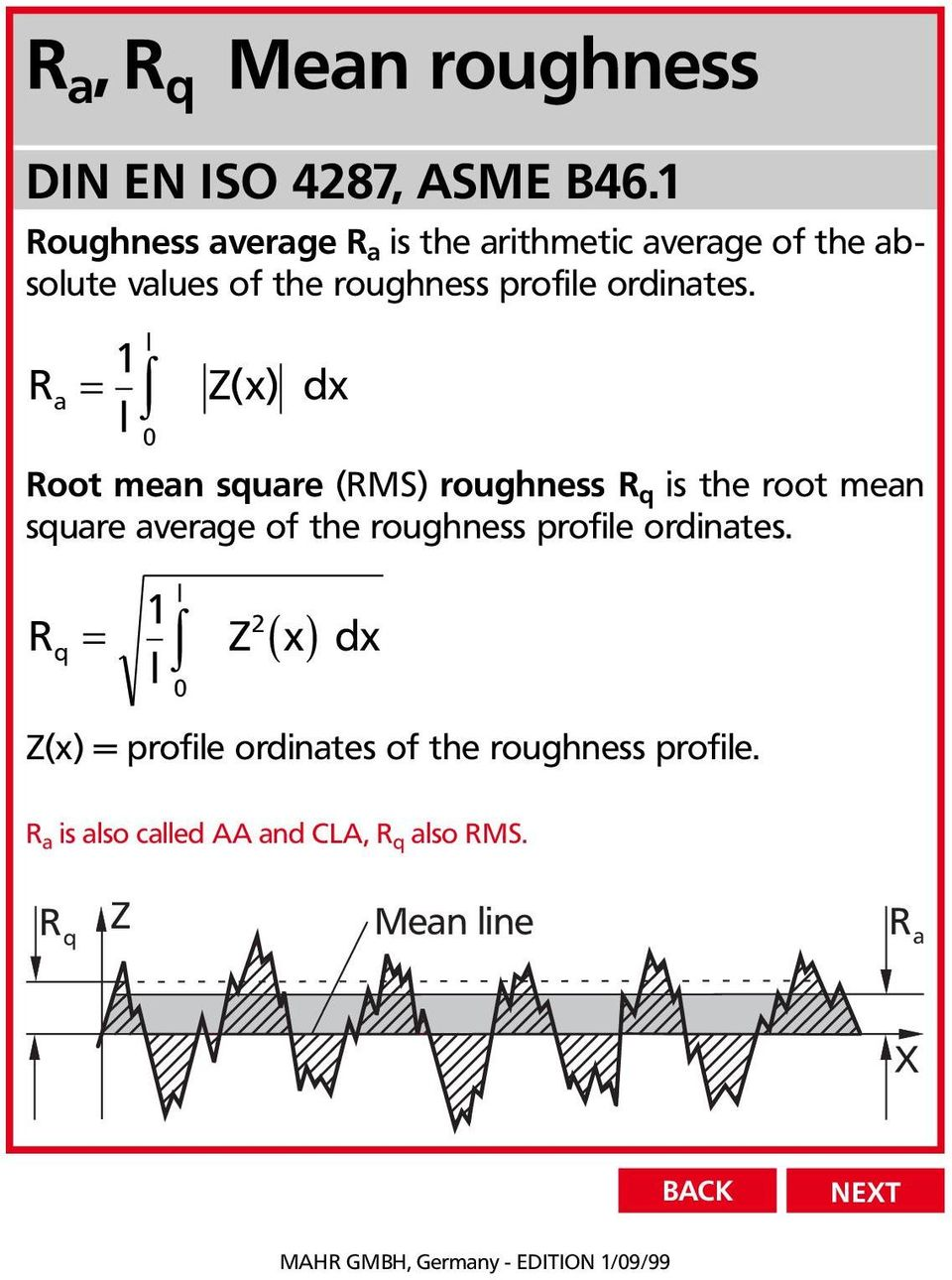 Perthometer Surface Texture Parameters New Standards Din En Iso