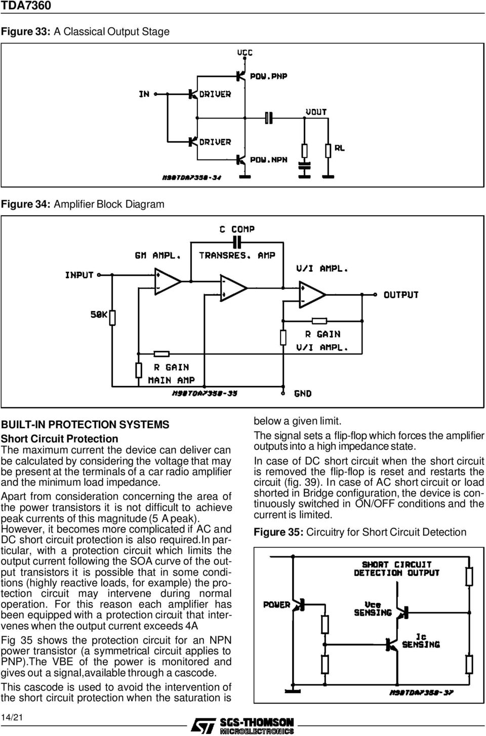 Tda W Bridge Stereo Audio Amplifier With Clipping Detector Pdf 25w Hifi Mosfet Circuit Diagram Apart From Consideration Concerning The Area Of Power Transistors It Is Not Difficult To Achieve