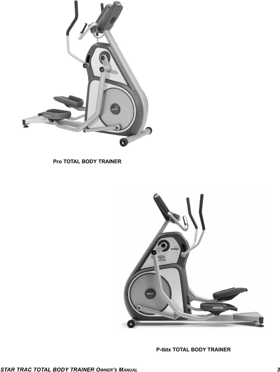 Star Trac Fitness TM P-TBT Total Body Trainer P-TBTx Total
