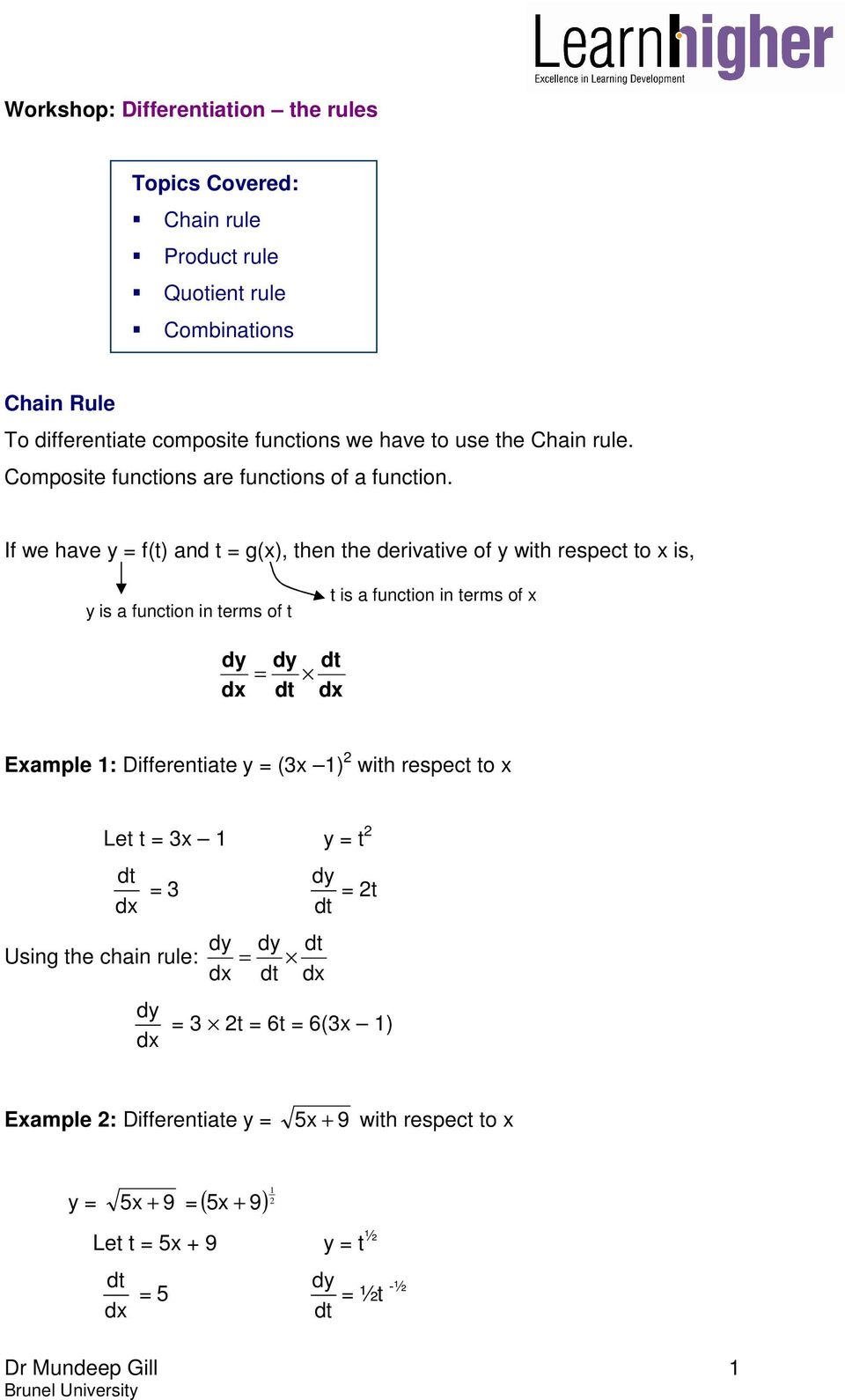 Chain Rule To differentiate composite functions we have to use the Intended For Composite Function Worksheet Answers