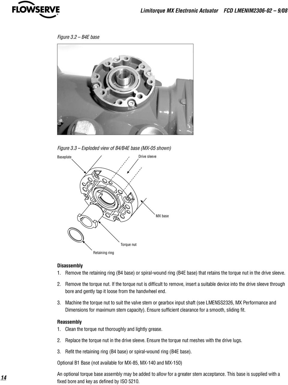 User Instructions Limitorque Mx Electronic Actuator Installation Mxa 20 Wiring Diagram If The Torque Nut Is Difficult To Remove Insert A Suitable Device Into Drive