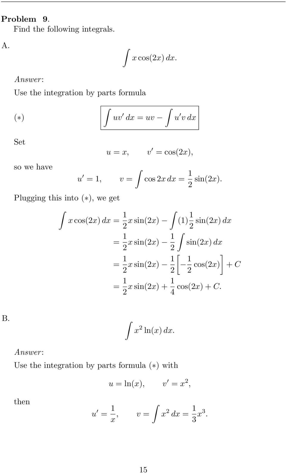 PROBLEM SET  Practice Problems for Exam #1  Math 1352, Fall