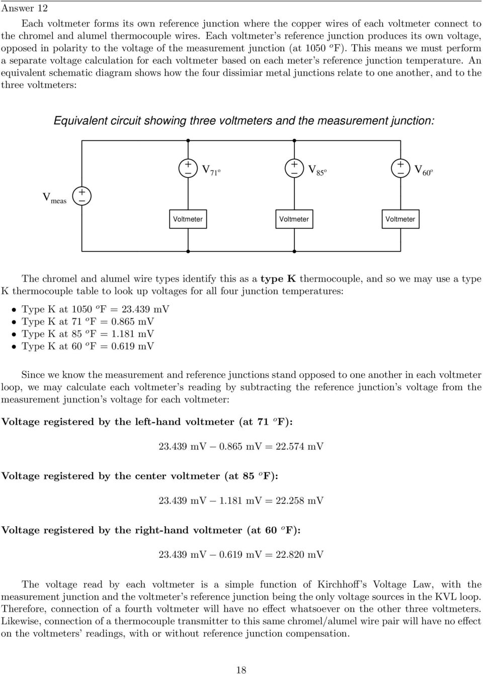 Rtd And Thermocouple Circuits With Millivolt Calculations Pdf Circuit Diagram Voltmeter This Means We Must Perform A Separate Voltage Calculation For Each Based On Meter