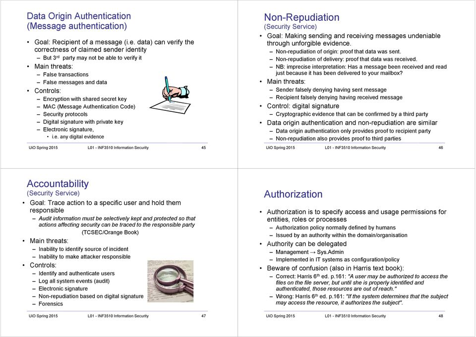 Course information  INF3510 Information Security  Lecture 01