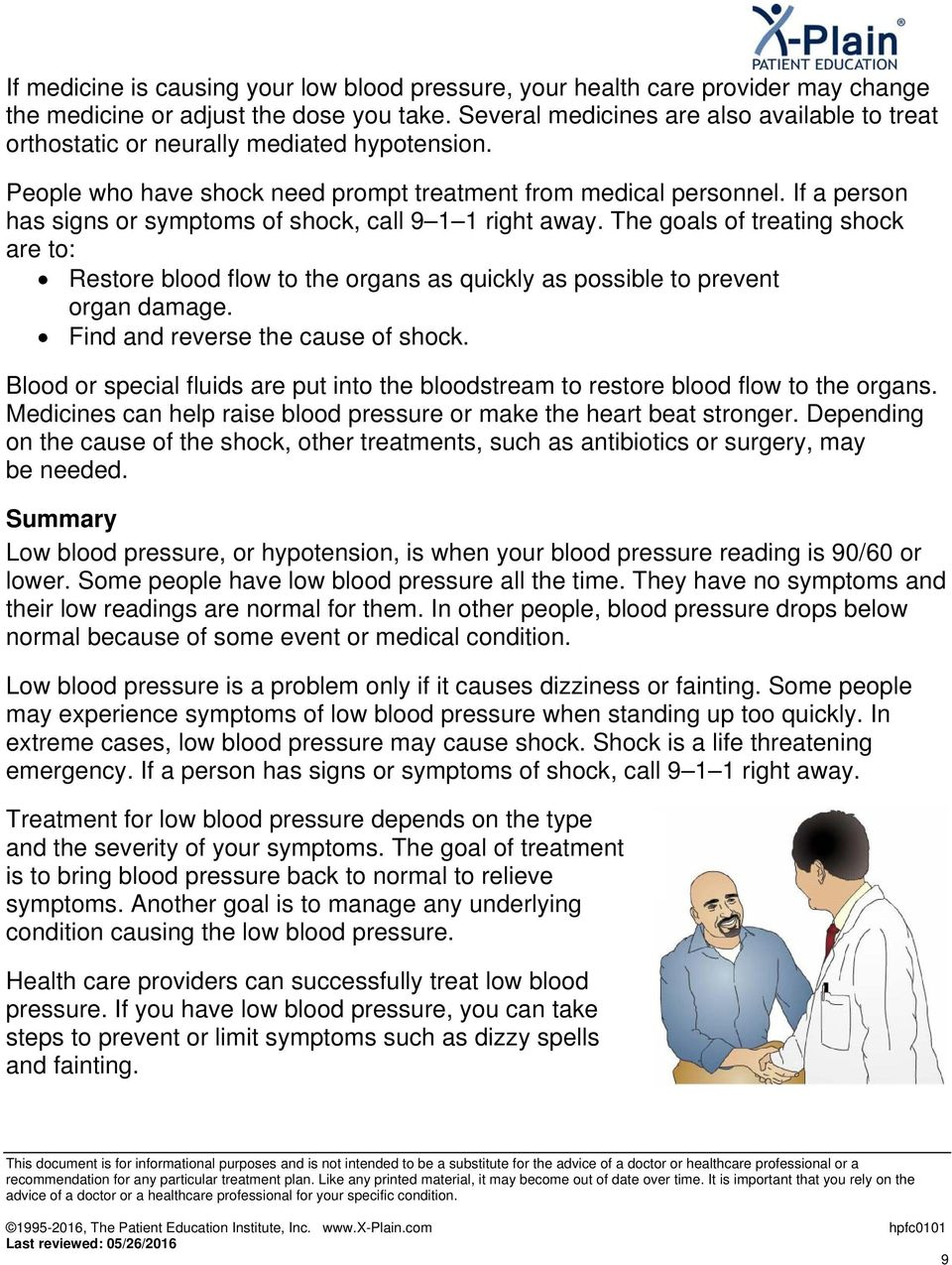 Low Blood Pressure  This reference summary explains low blood