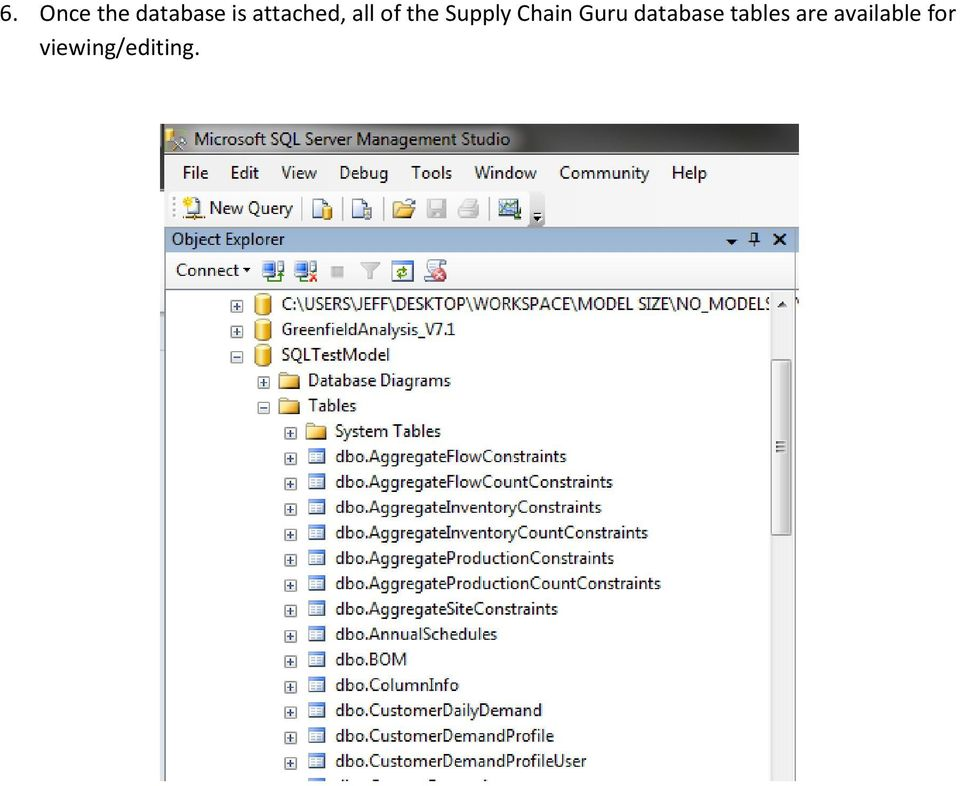 Chain Guru database tables
