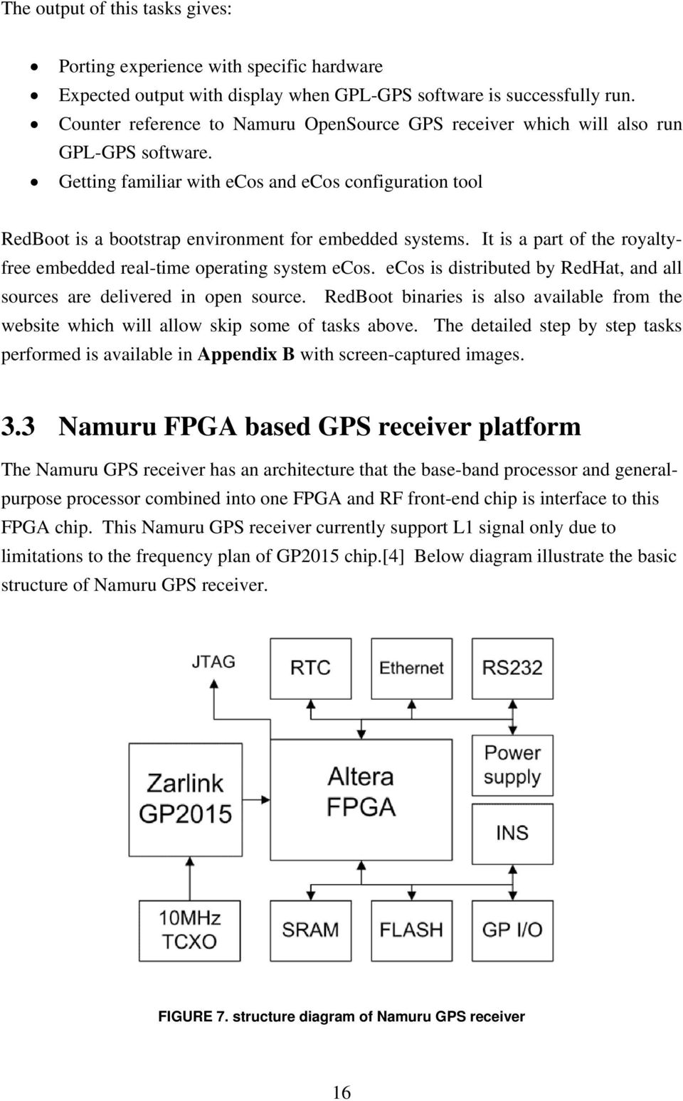 Open Source Software Development For Unsw Fpga Based Gps Receiver Pdf Circuitdiagramtointerfacerfreceiverwithfpga Getting Familiar With Ecos And Configuration Tool Redboot Is A Bootstrap Environment Embedded Systems